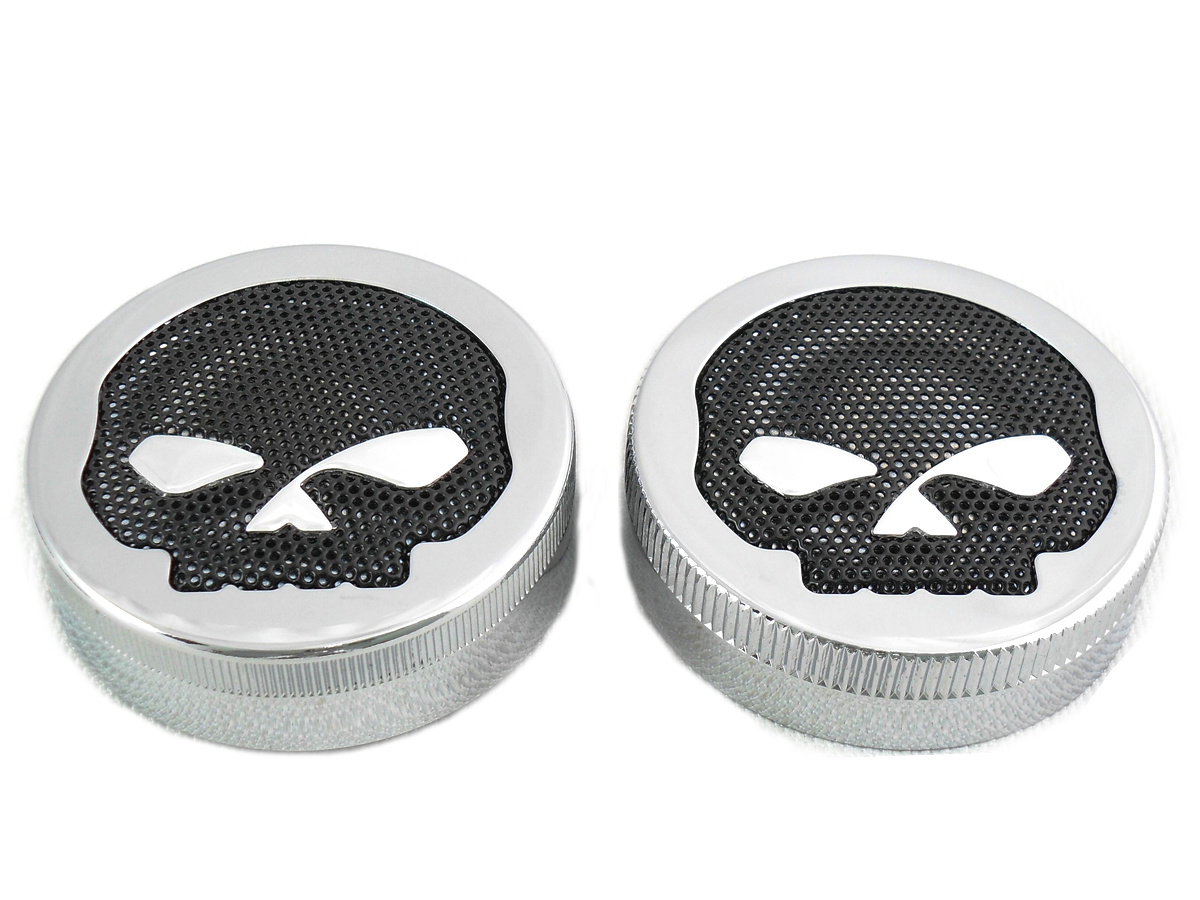 Skull Style Vented and Non-Vented Gas Cap Set