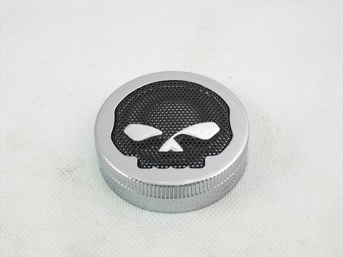 Chrome Skull Style Vented Gas Cap