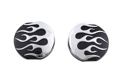 Black Flame Style Vented and Non-Vented Gas Cap Set