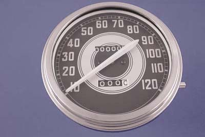 Speedometer with 2:1 Ratio and White Needle