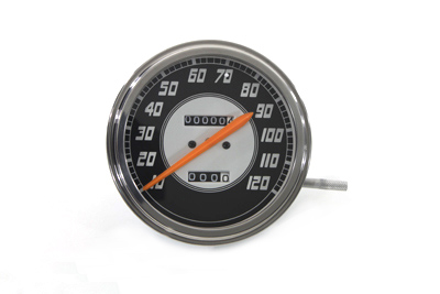 Speedometer with 2:1 Ratio and Orange Needle