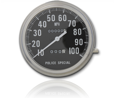 Police Special Speedometer with 1:1 Ratio
