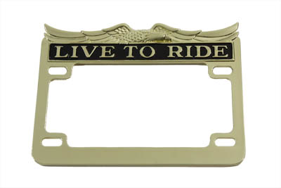 License Plate Frame Gold Inlay