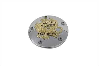 Live to Ride Ignition System Cover 5-Hole Gold Inlay