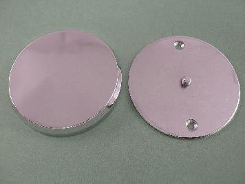 Smooth Chrome Ignition System Cover with Hidden Screws