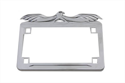 License Plate Frame Flying Eagle Style Chrome