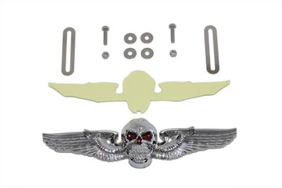 Skull Wing License Plate Ornament