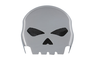 Skull Horn Cover Chrome