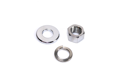 Chrome Front Axle Nut and Washer Kit