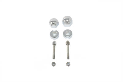 Chrome Rear Axle Adjuster and Nut Kit