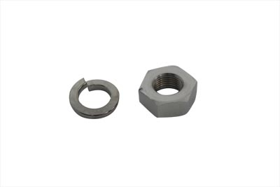 Hex Nut and Lock Washer Set Chrome
