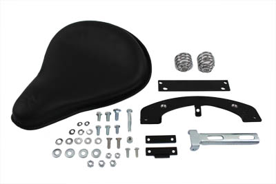 Black Leather Solo Seat Kit