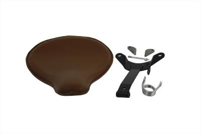 Brown Leather Velo Racer Solo Seat Kit