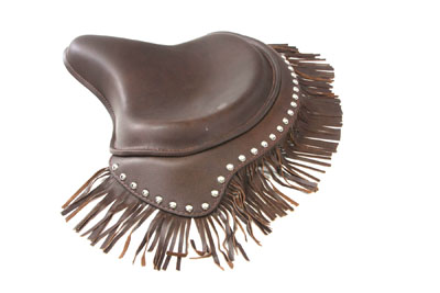 Brown Deluxe Solo Seat with Fringe Skirt