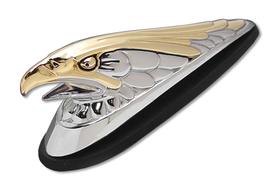 Front Fender Trim Ornament Eagle with Gold Inlay