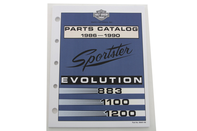 Factory Spare Parts Book for 1986-1990 XL