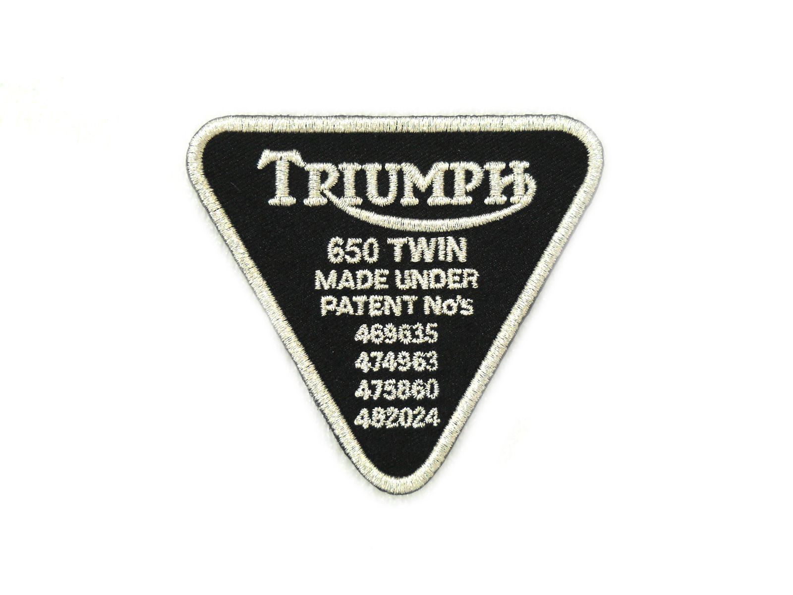 Triumph Patent Tag Patches
