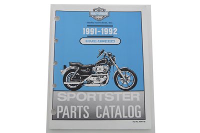 Factory Spare Parts Book for 1991-1992 XL