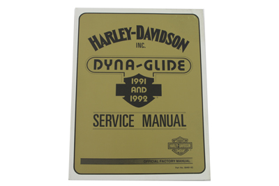 Factory Service Manual for All 1991-1992 Dyna Glide
