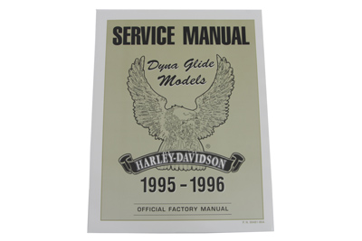 Factory Service Manual for All 1995-1996 Dyna Glide