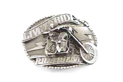 Live to Ride Chopper Belt Buckle