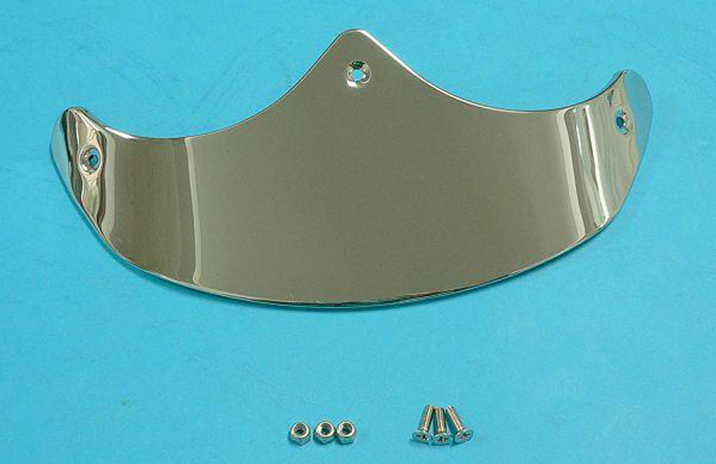 Smooth Front Fender Tip Chrome
