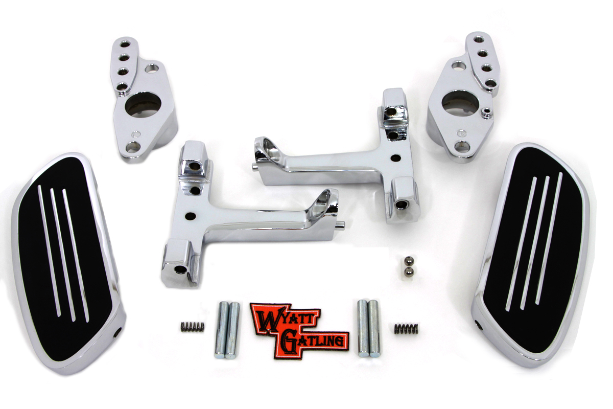 Passenger Footboard Set with Swingarm Mount Kit