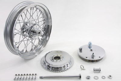 "16"" Wheel and Brake Drum Assembly Chrome"