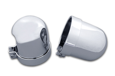 Chrome Dome Style Shock Cover Set