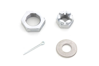Front Axle Nut Kit Chrome