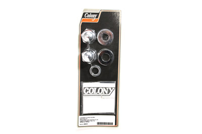Chrome Axle Nut Kit, Acorn Style
