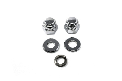 Chrome Axle Nut Kit, Cap Style