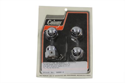 Acorn Type Headbolt Cover Chrome